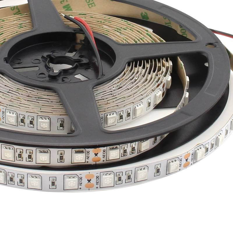 Tira LED UV Ultravioleta SMD5050, DC12V, 5m (60 Led/m) - IP20, Ultravioleta